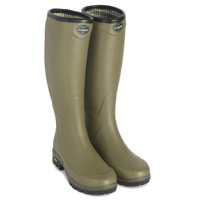 Le Chameau Country Vibram Jersey Lined Women's Wellington Boots
