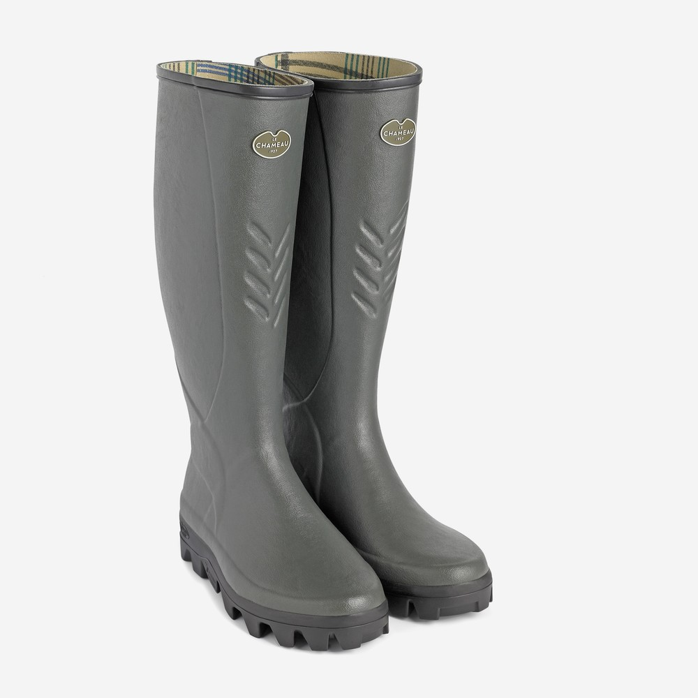 Le Chameau Ceres Jersey Lined Men's Wellington Boots Vert Bronze
