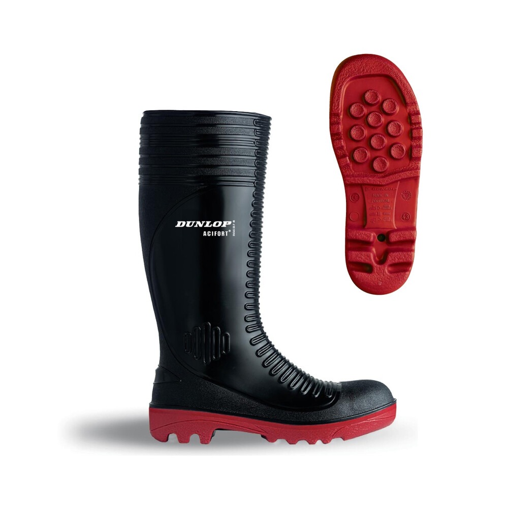 HOGGS OF FIFE Dunlop Acifort A252931 Ribbed Full Safety Wellingtons