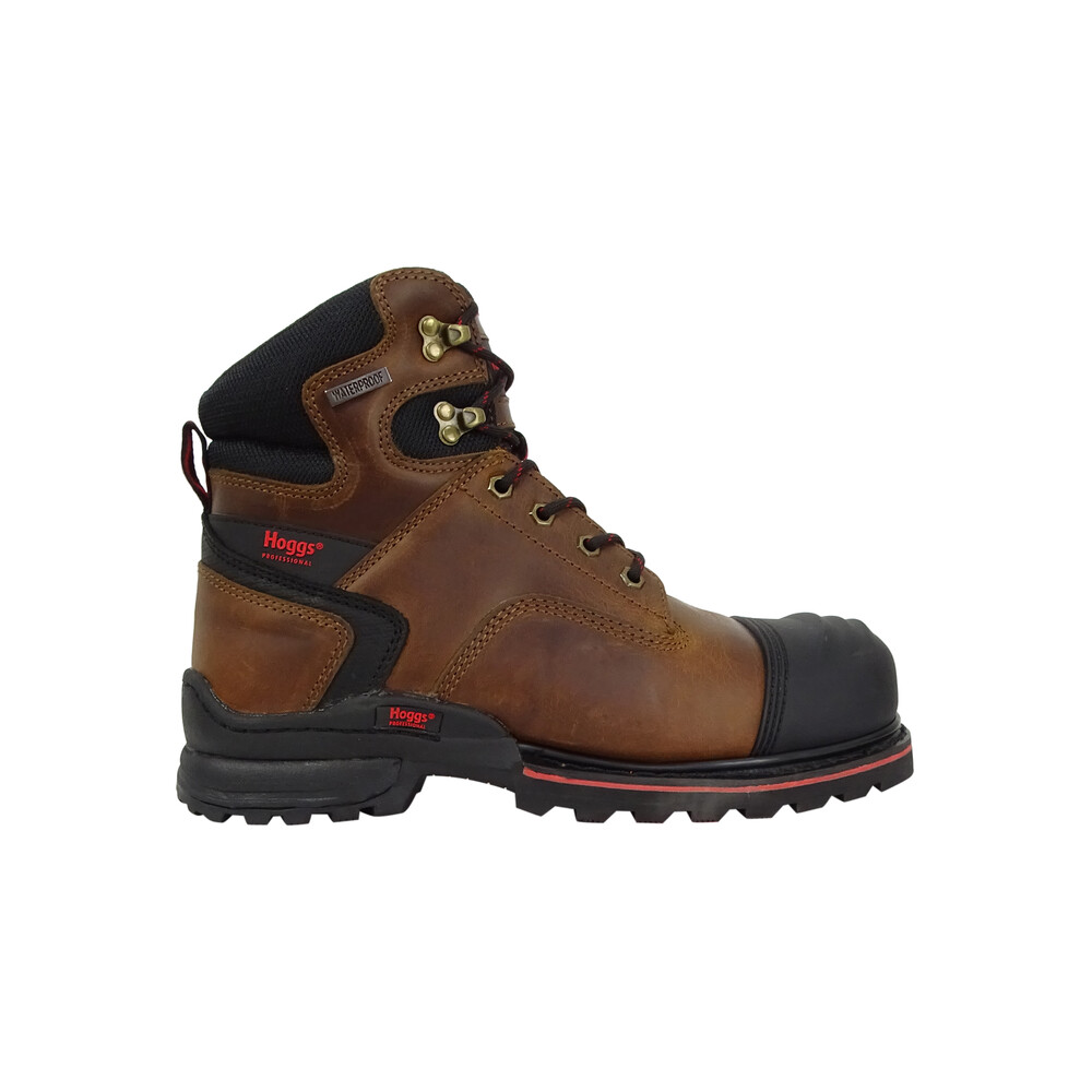 HOGGS OF FIFE Artemis Safety Lace-up Boots Crazy Horse Brown