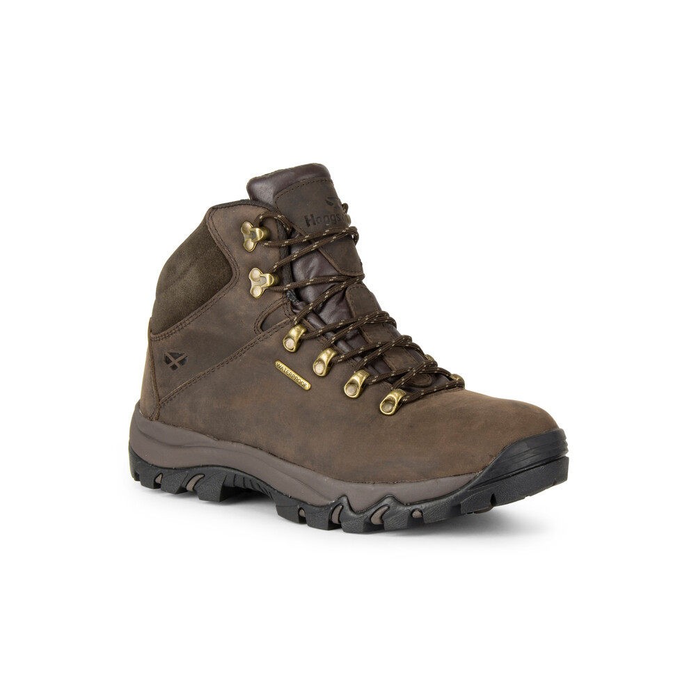 HOGGS OF FIFE Glencoe Waxy Leather WP Trek Boot Brown