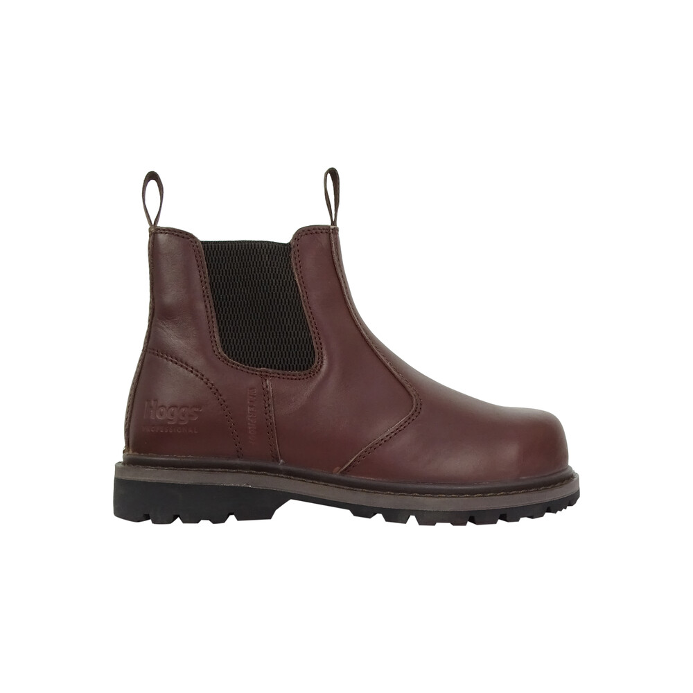 HOGGS OF FIFE Zeus Safety Dealer Boots in Full Grain Brown