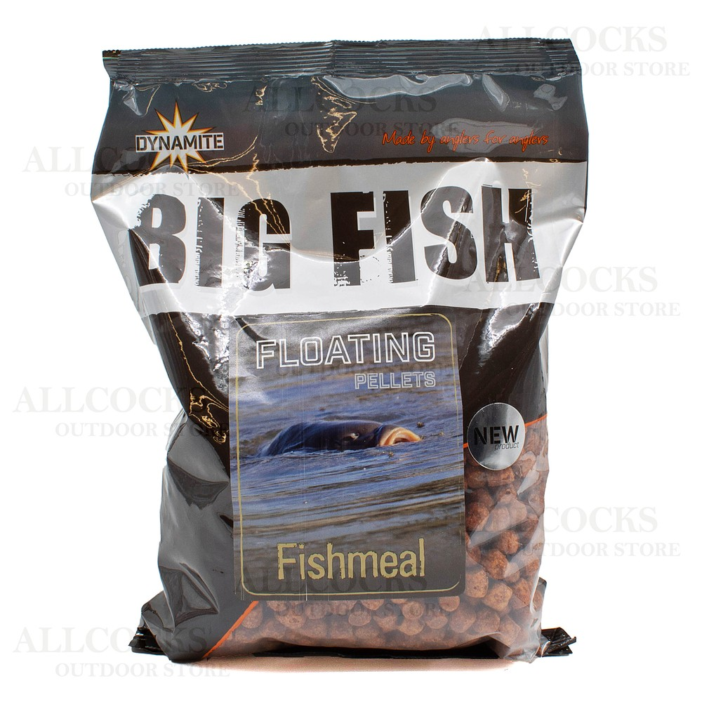 Dynamite Baits Big Fish Floating Pellets - Fishmeal - 11mm Brown