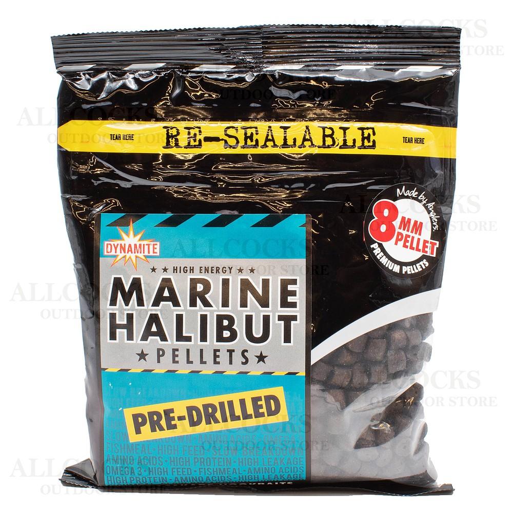Dynamite Baits Marine Halibut Pre-Drilled Pellets - 8mm