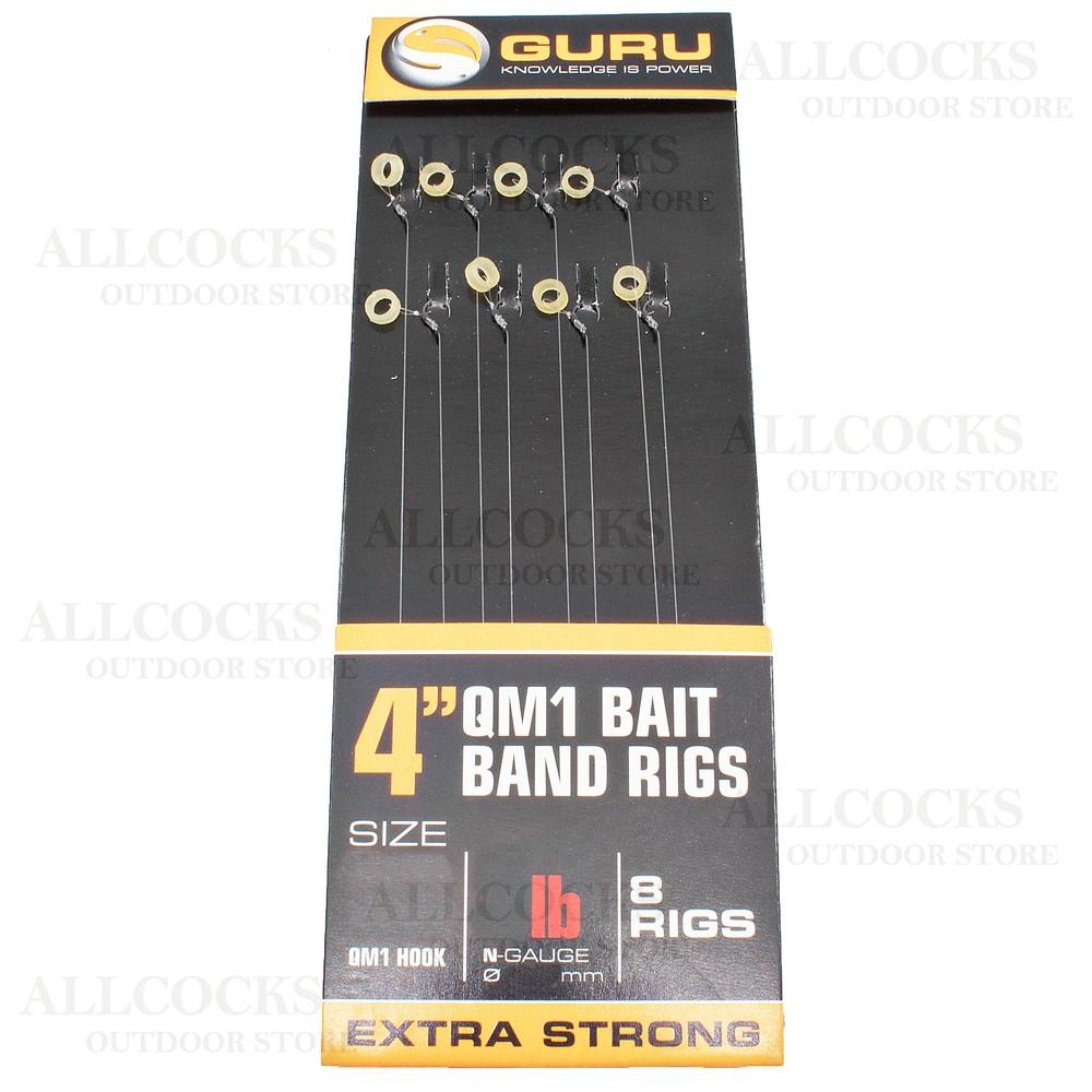"Guru Bait Band Rigs - 4"" - QM1 Hook"