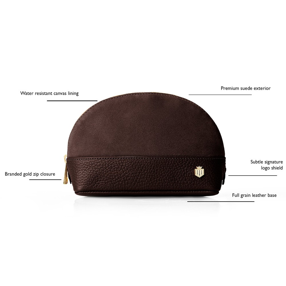 Fairfax & Favor Chatham Cosmetic Bag Chocolate