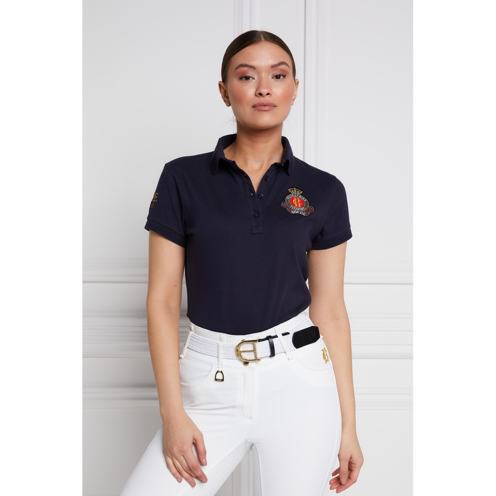 Holland Cooper Team Polo Shirt Ink Navy