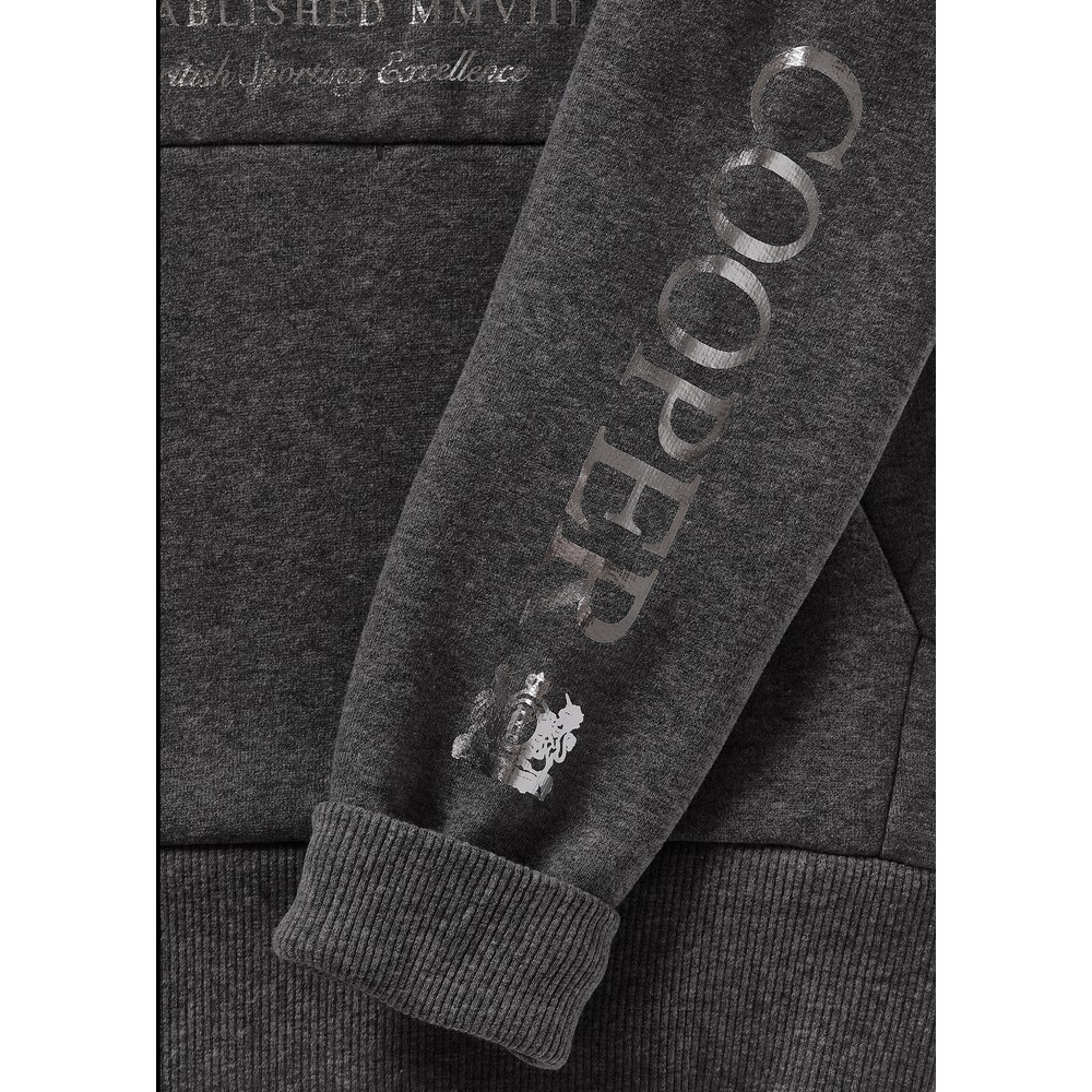 Holland Cooper Sporting Crested Hoodie Grey Marl