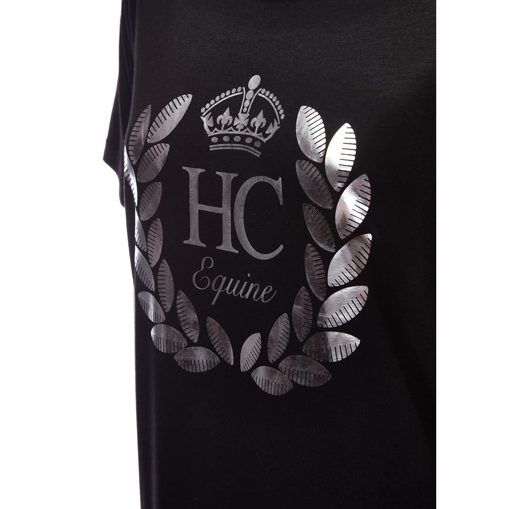 Holland Cooper Equine Laurel Tee Black/Silver