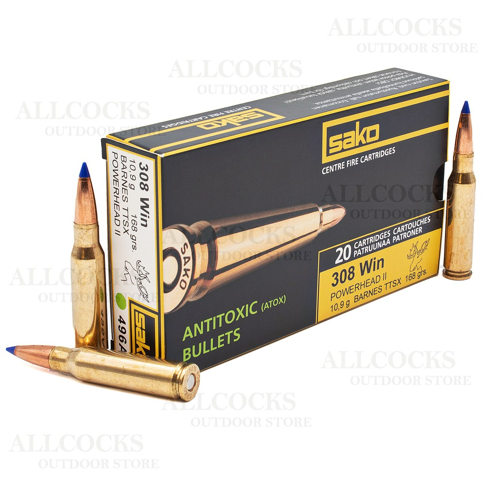 Sako .308 Ammunition - 168gr - Powerhead II (Barnes TTSX)