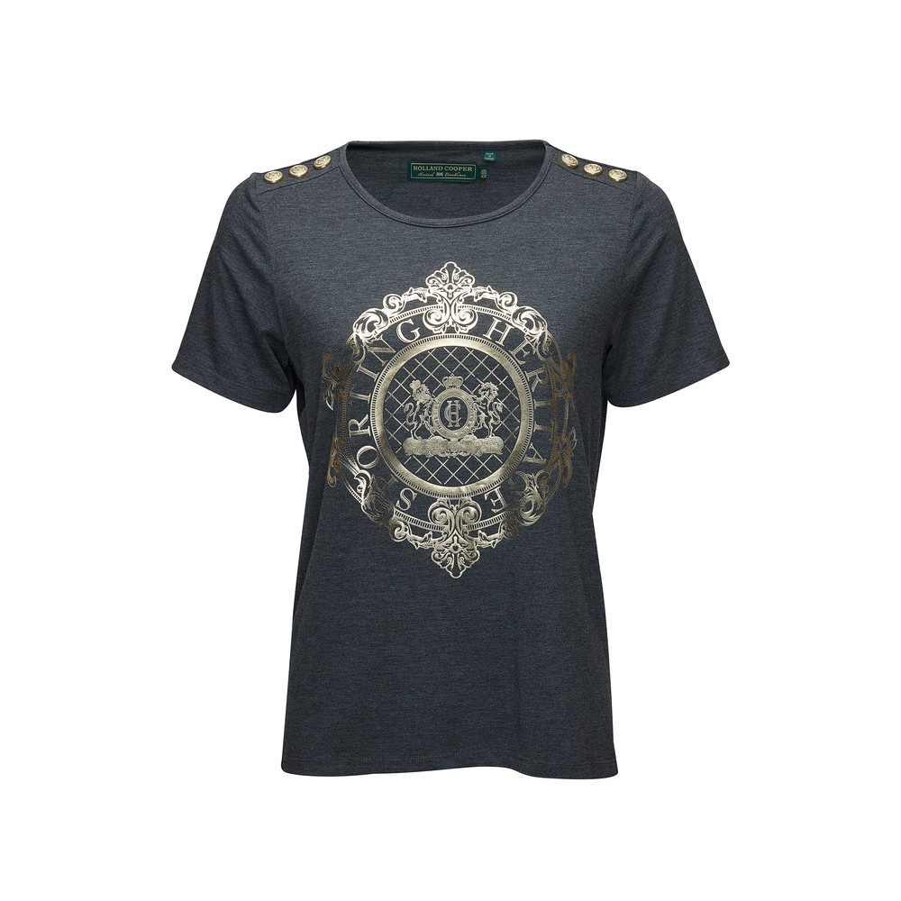 Holland Cooper Ornate Crest Tee