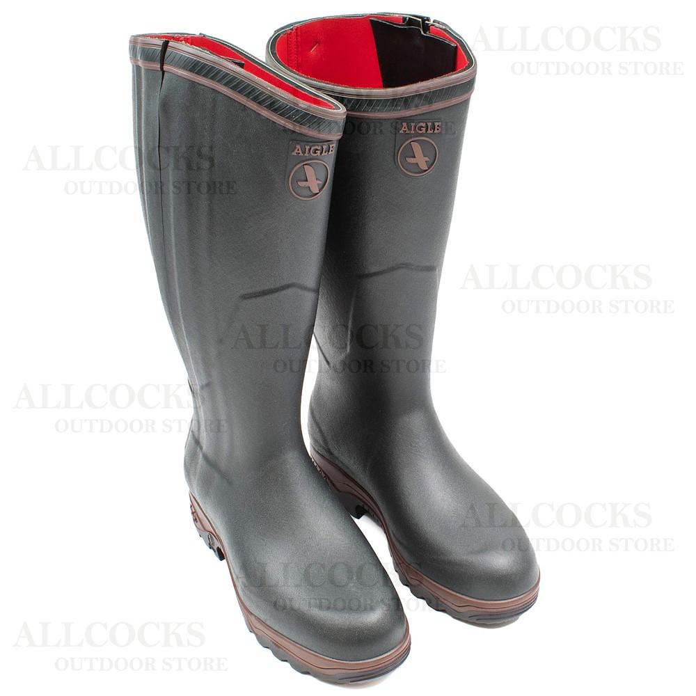 Aigle Aigle Parcours 2 ISO Open Wellington Boots - Bronze