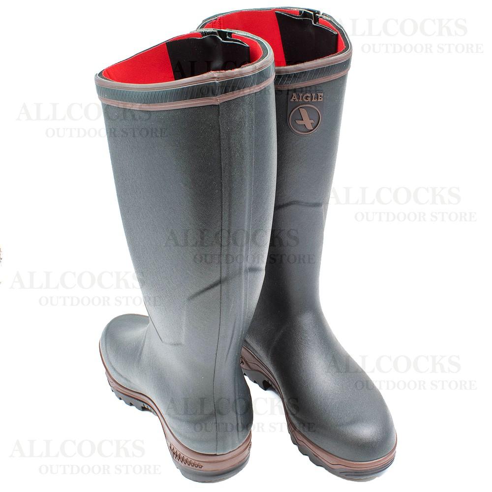 Aigle Parcours 2 ISO Open Wellington Boots Bronze