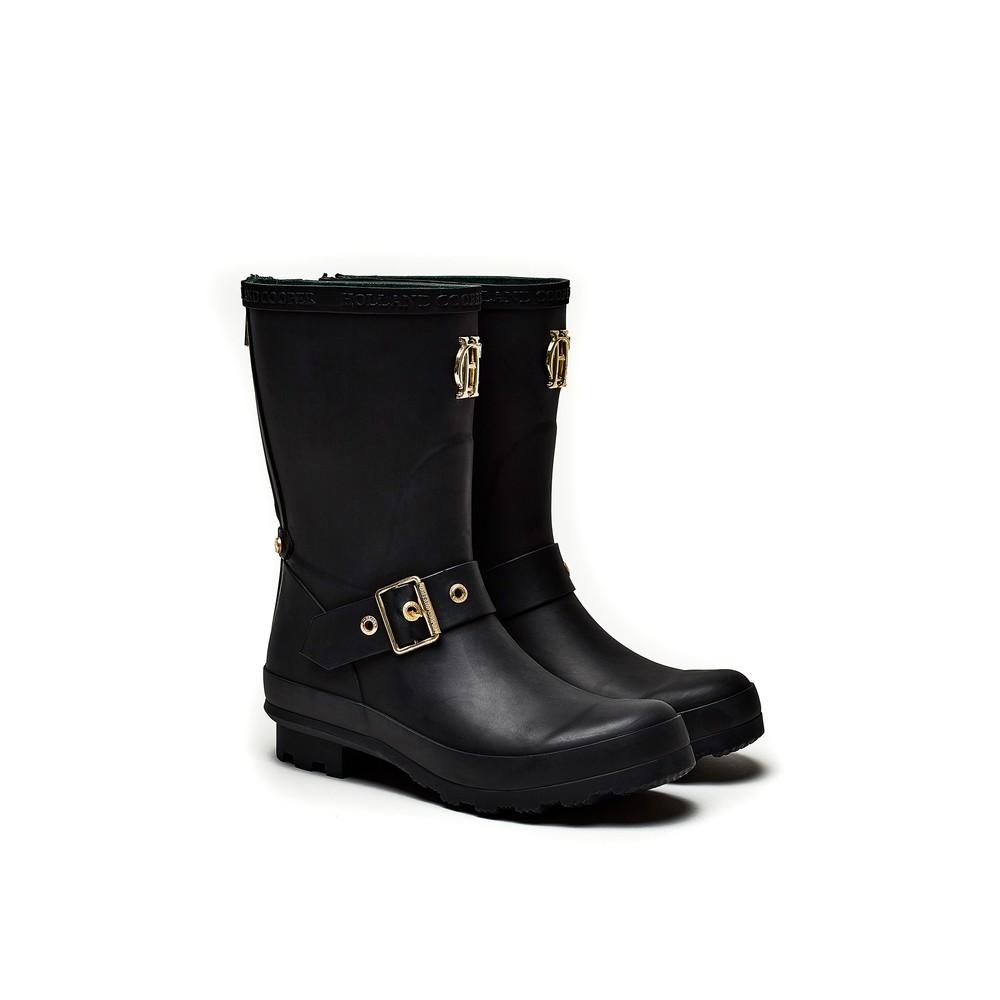 Holland Cooper Short Zip Chelsea Wellington Boots