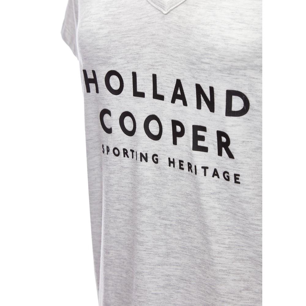 Holland Cooper Serif Tee Ice Marl Black