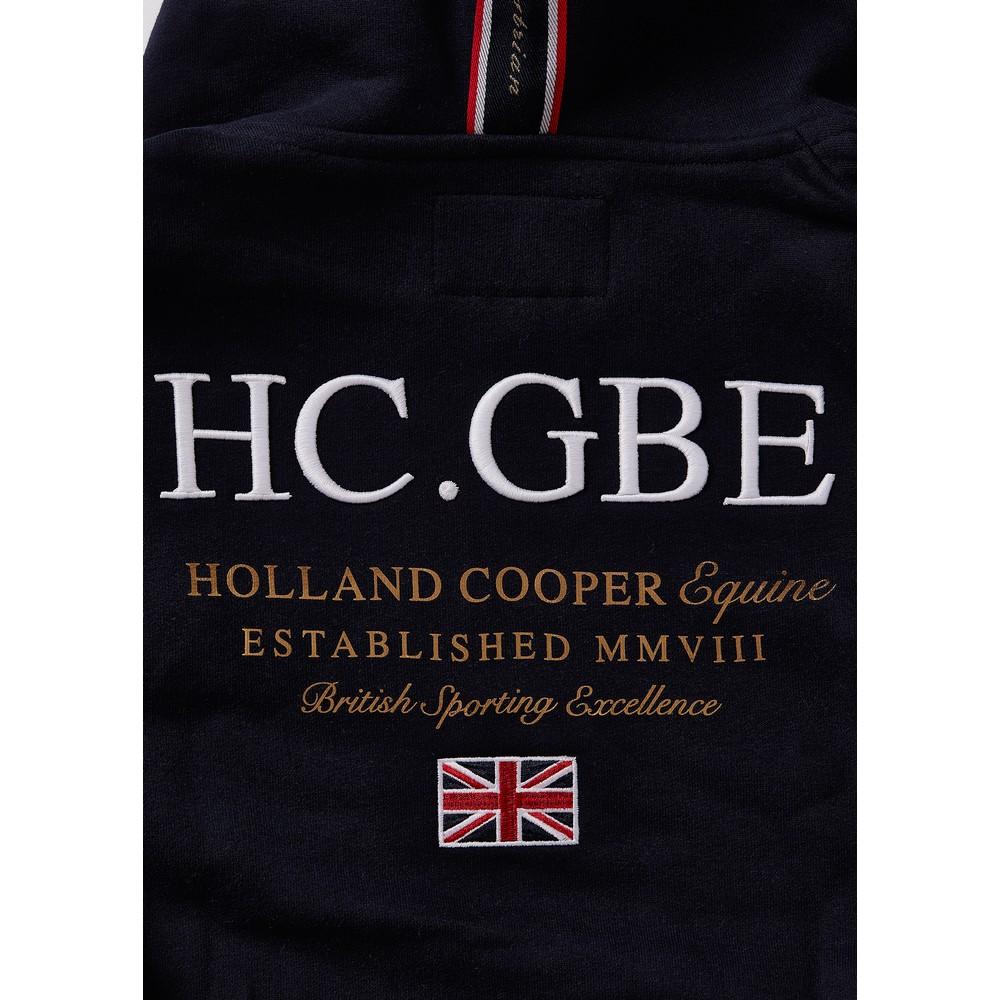 Holland Cooper Crested Zip Hoodie Ink Navy