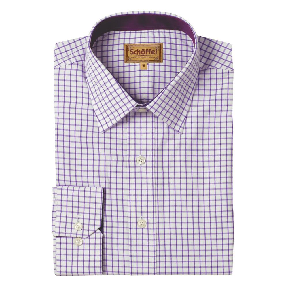 Schoffel Cambridge Shirt - Classic Fit Purple