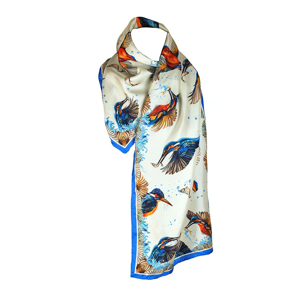 Clare Haggas We Three Kings Narrow Silk Scarf