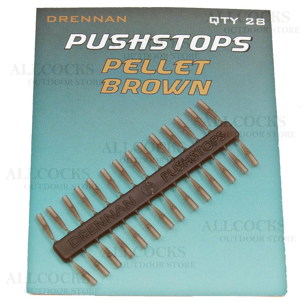 Drennan Pushstops Pellet Brown