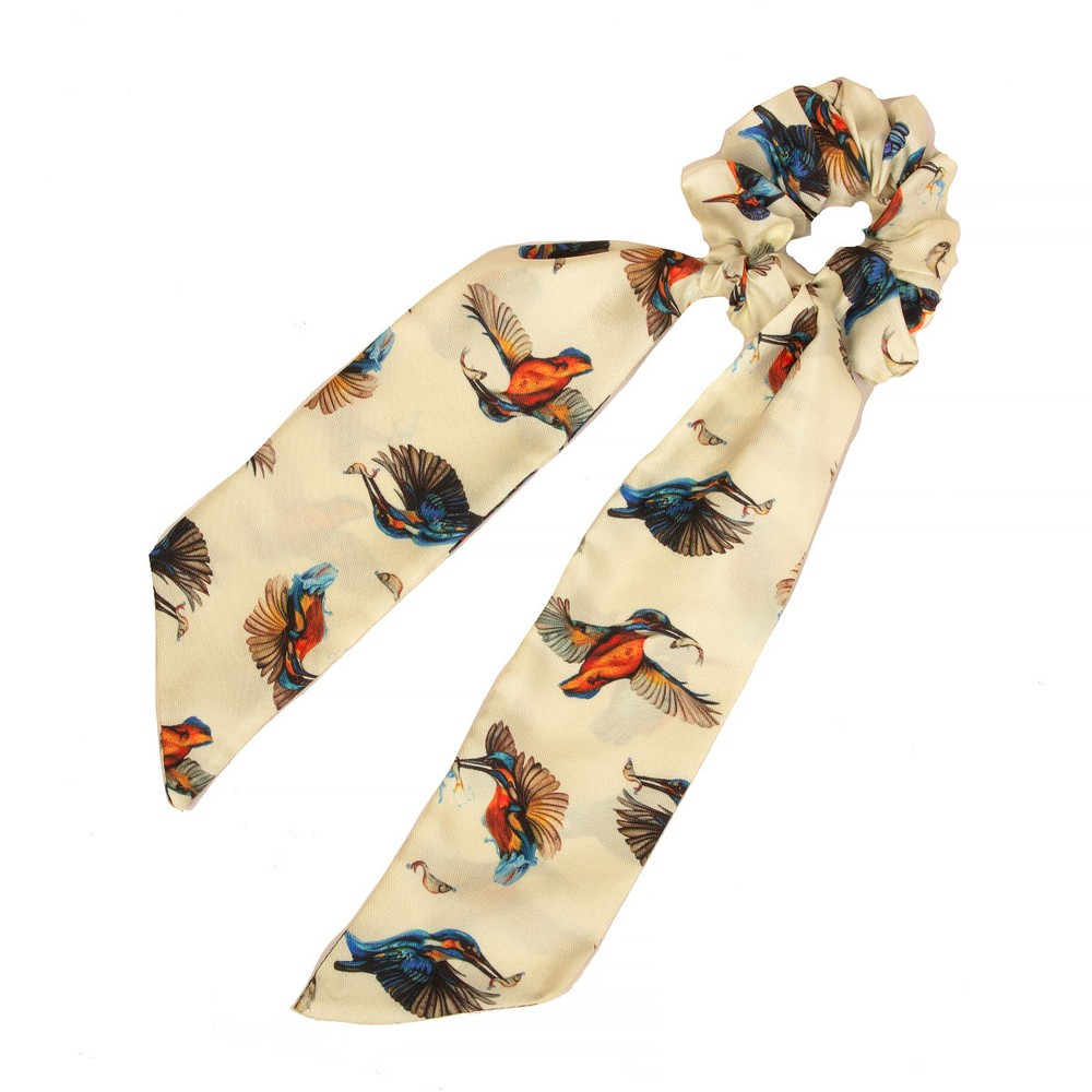 Clare Haggas We Three Kings Silk Scrunchie - Long Tail