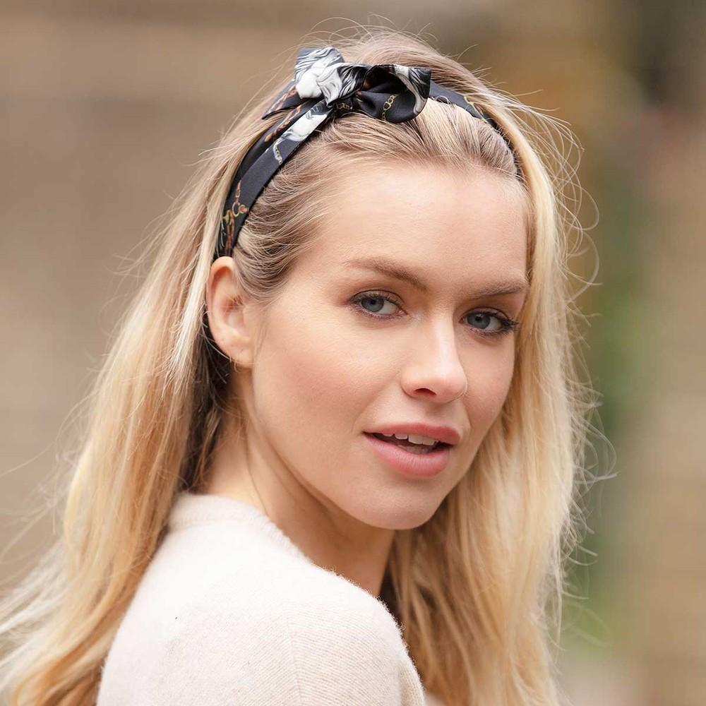 Clare Haggas Hold Your Horses Headband Black