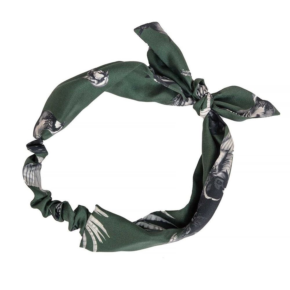 Clare Haggas Turf Wars Monochrome Silk Headband