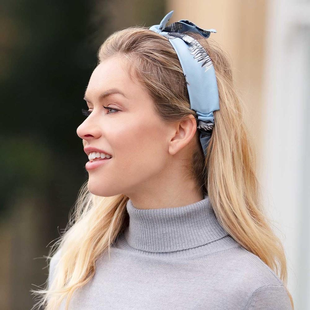 Clare Haggas Turf Wars Monochrome Headband Blue