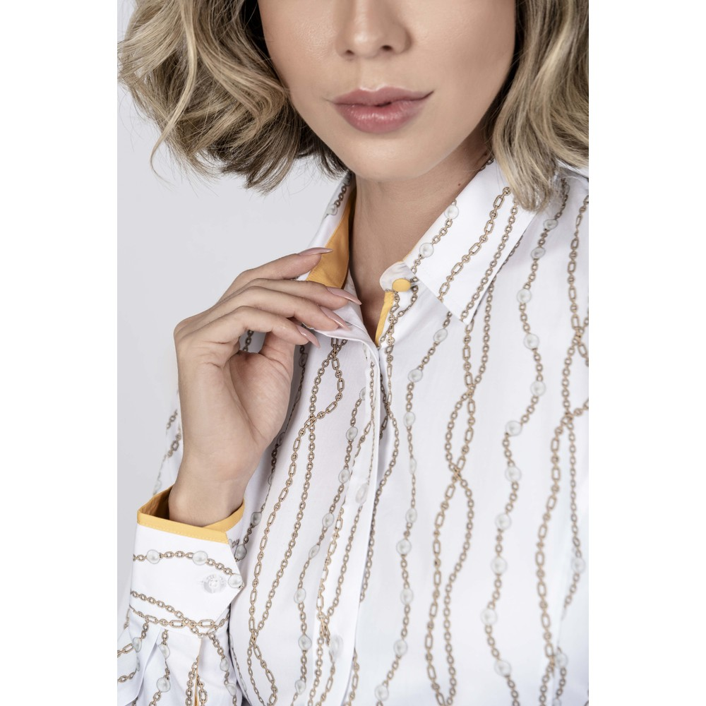 H&N Hartwell Layla Ladies Shirt White Pearls