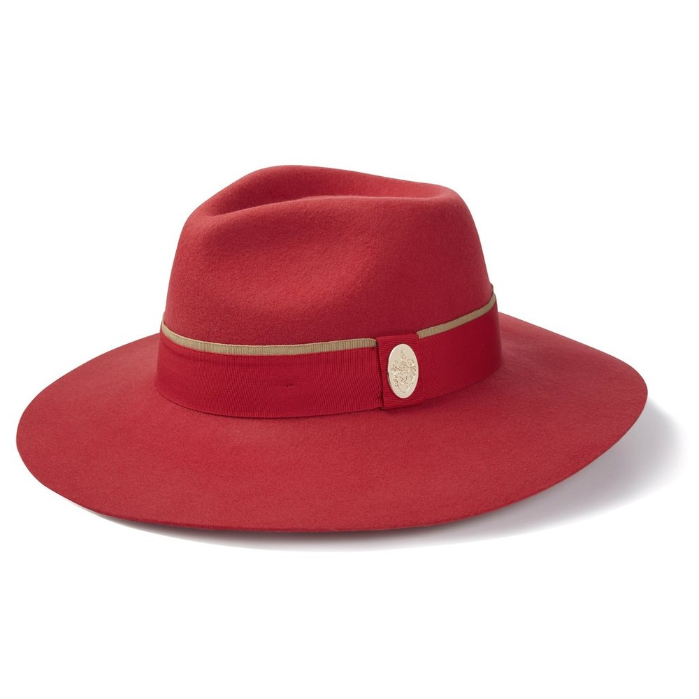Hicks & Brown Hicks & Brown Oxley Fedora in Berry