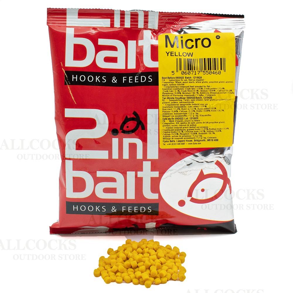 Fjuka Baits 2 in 1 Micro Soft Hooker Pellets Yellow