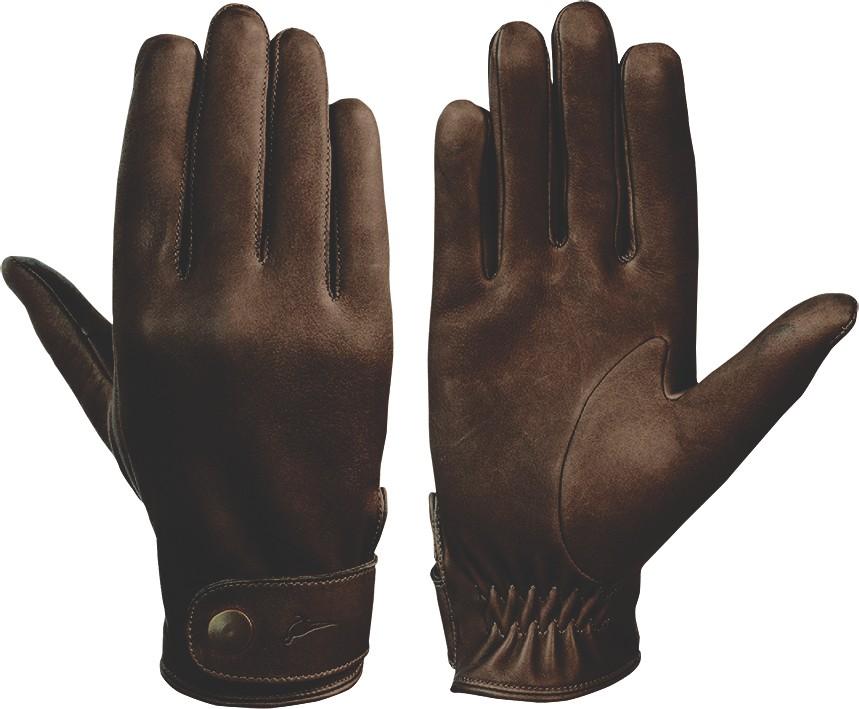 Laksen Laksen London Nubuck Calfskin Gloves - Brown