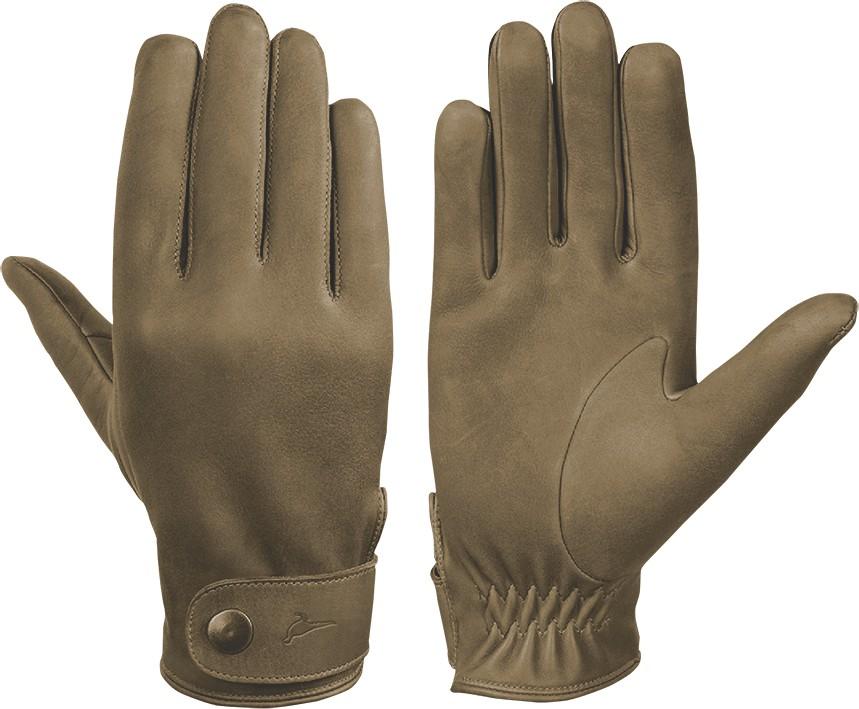 Laksen Laksen London Nubuck Calfskin Gloves - Olive