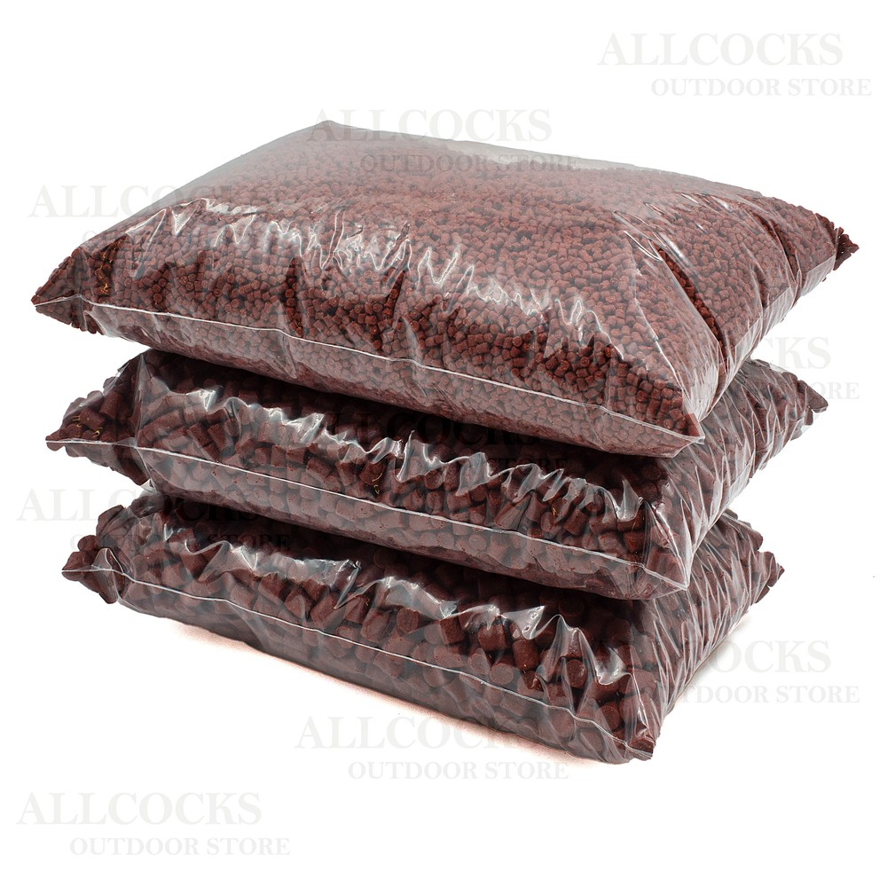Allcocks Loose Premium Red Halibut Pellets - 3 Pack (APP 3 Pints)