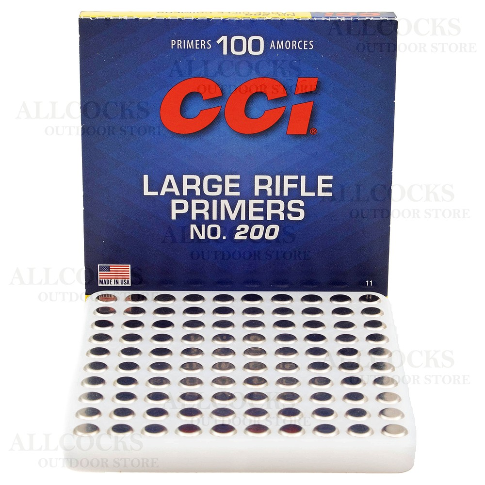 CCI Primers - #200 Standard Large Rifle - Pack of 100