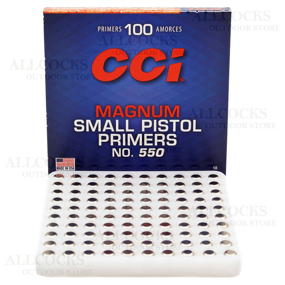 CCI Primers - #550 Magnum Small Pistol - Pack of 100