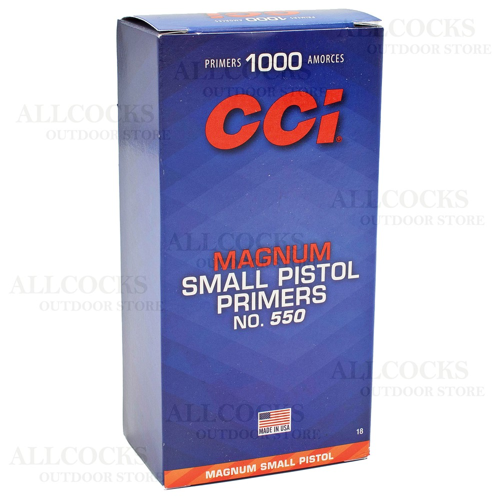 CCI Primers - #550 Magnum Small Pistol - Pack of 1000