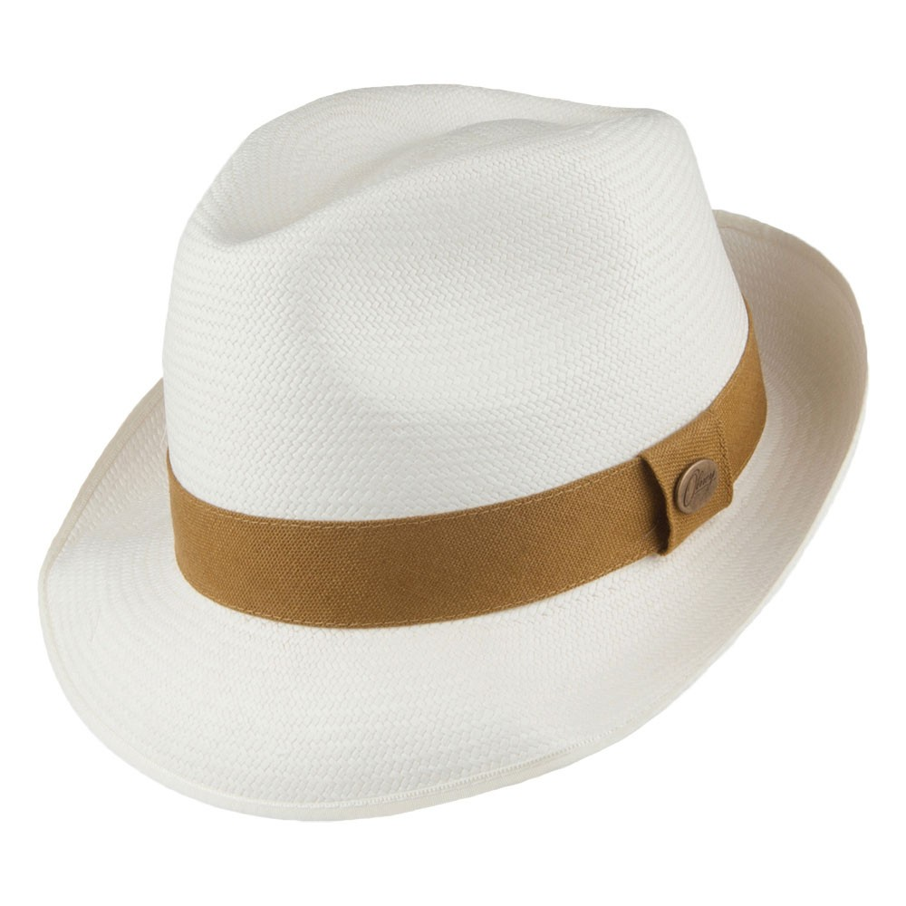 Olney Lincoln Bleached Panama Hat - Medium