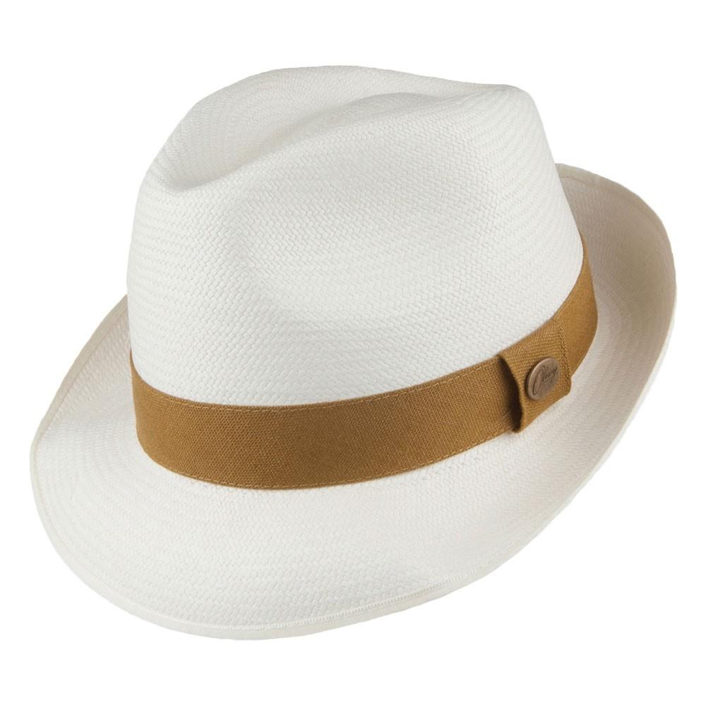 Olney Olney Lincoln Bleached Panama Hat - Medium