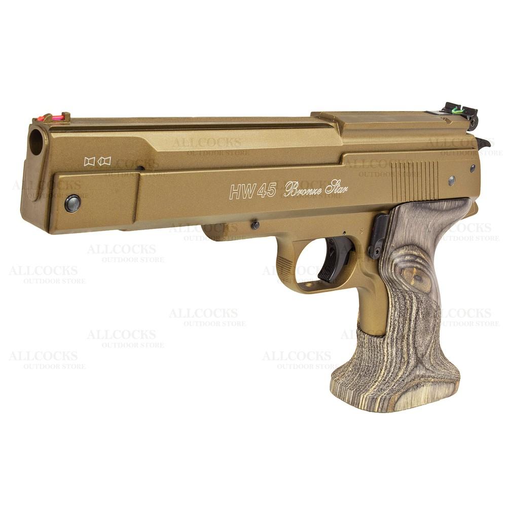 Weihrauch HW45 Bronze Star Air Pistol Bronze