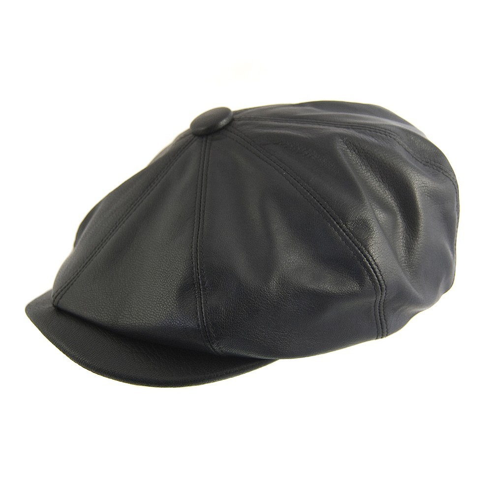 Olney Urban 2 8 Piece Leather Cap Black