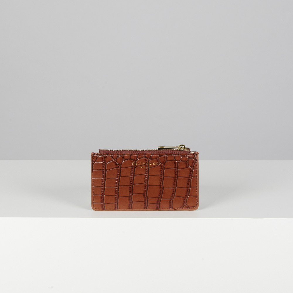 Salthouse England Theadora Card Holder Chestnut