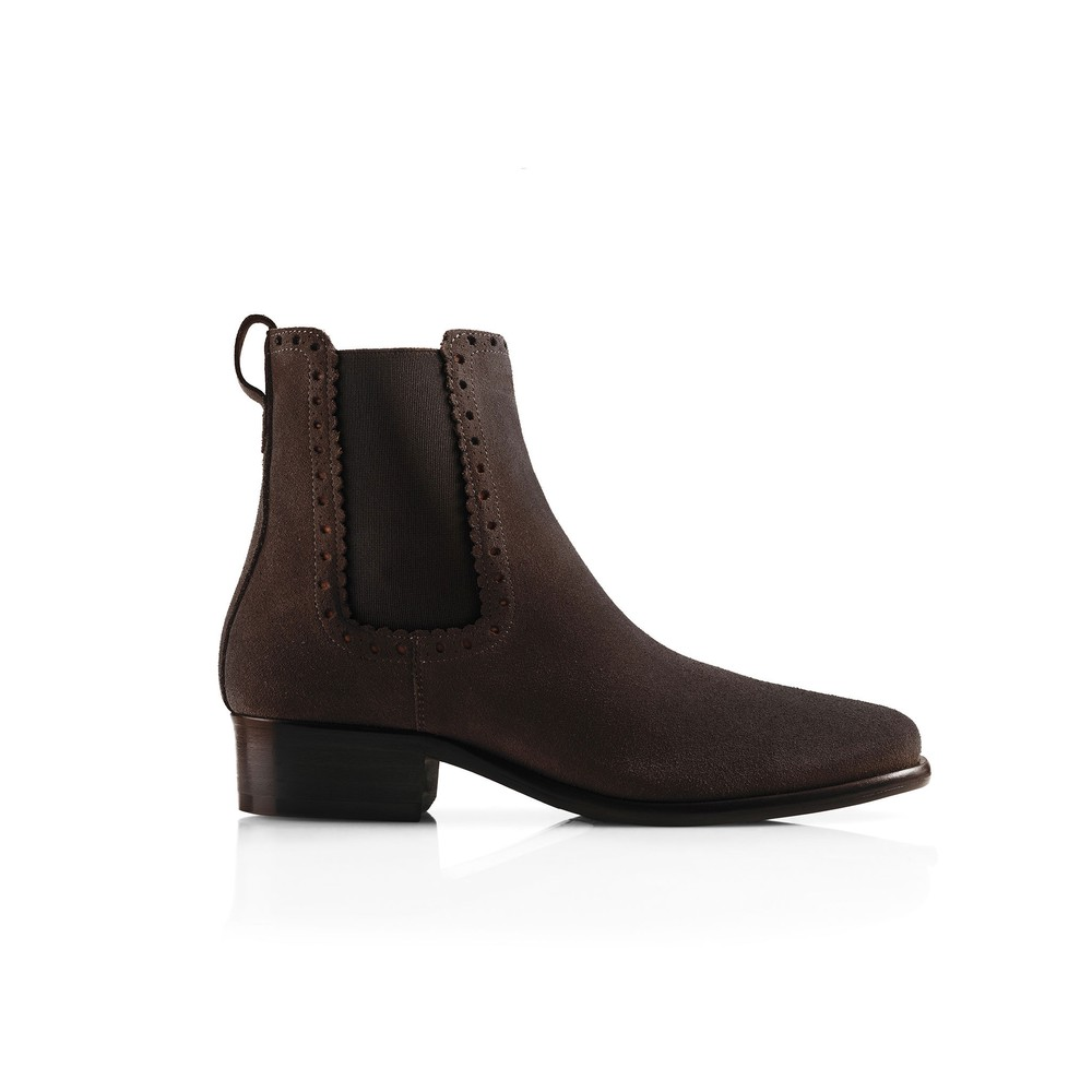 Fairfax & Favor Brogued Chelsea Women's Boot Chocolate