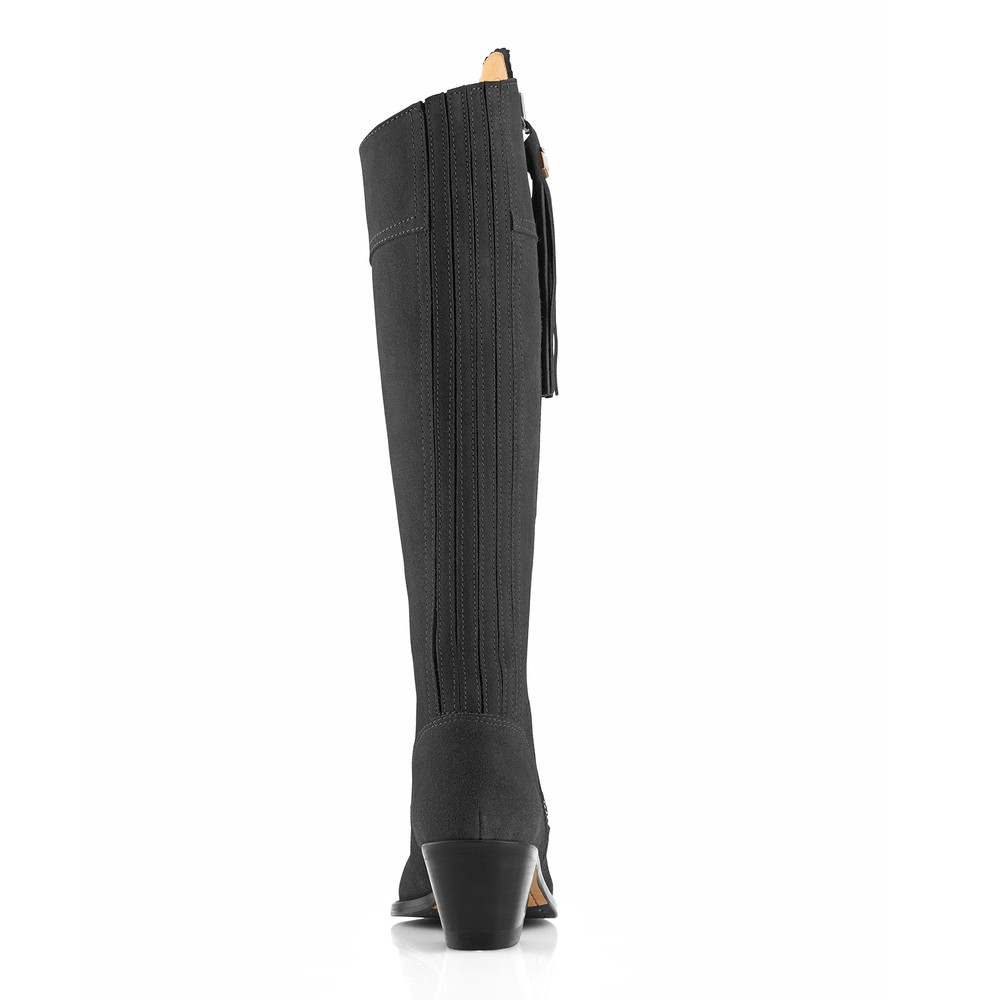 Fairfax & Favor Heeled Regina Boot Grey