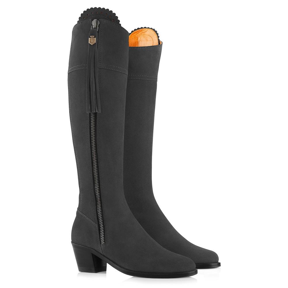 Fairfax & Favor Fairfax & Favor Heeled Regina Boot - Grey