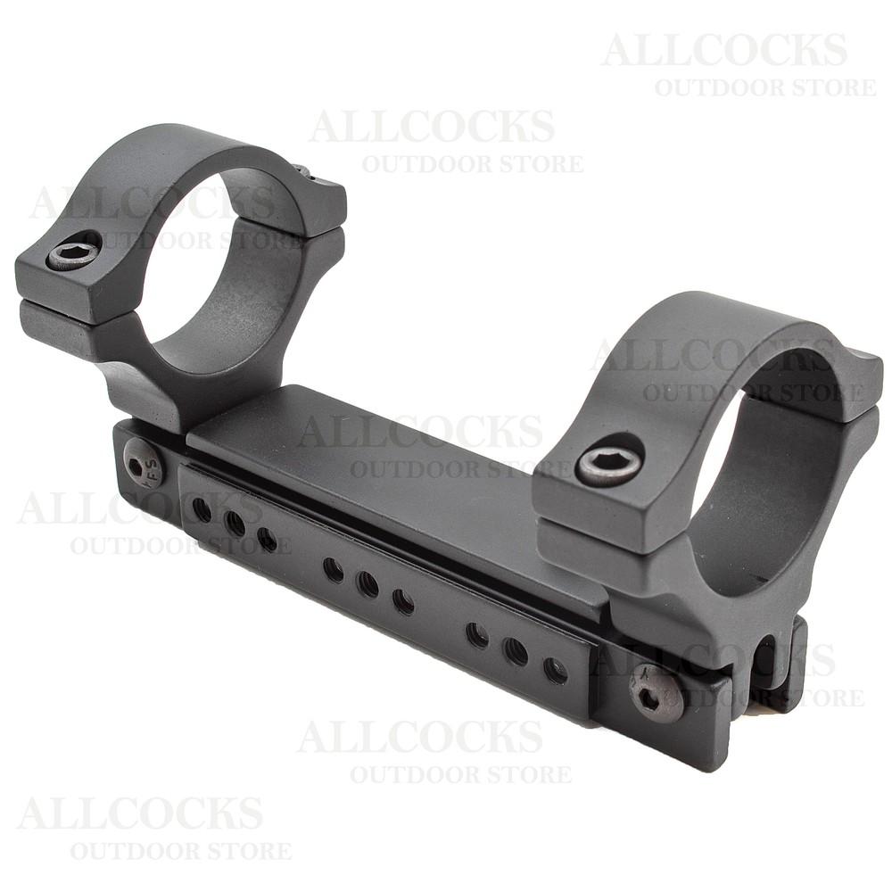 BKL Adjustable One Piece Scope Mount - 9-11mm Dovetail - 30mm Tube Matte Black