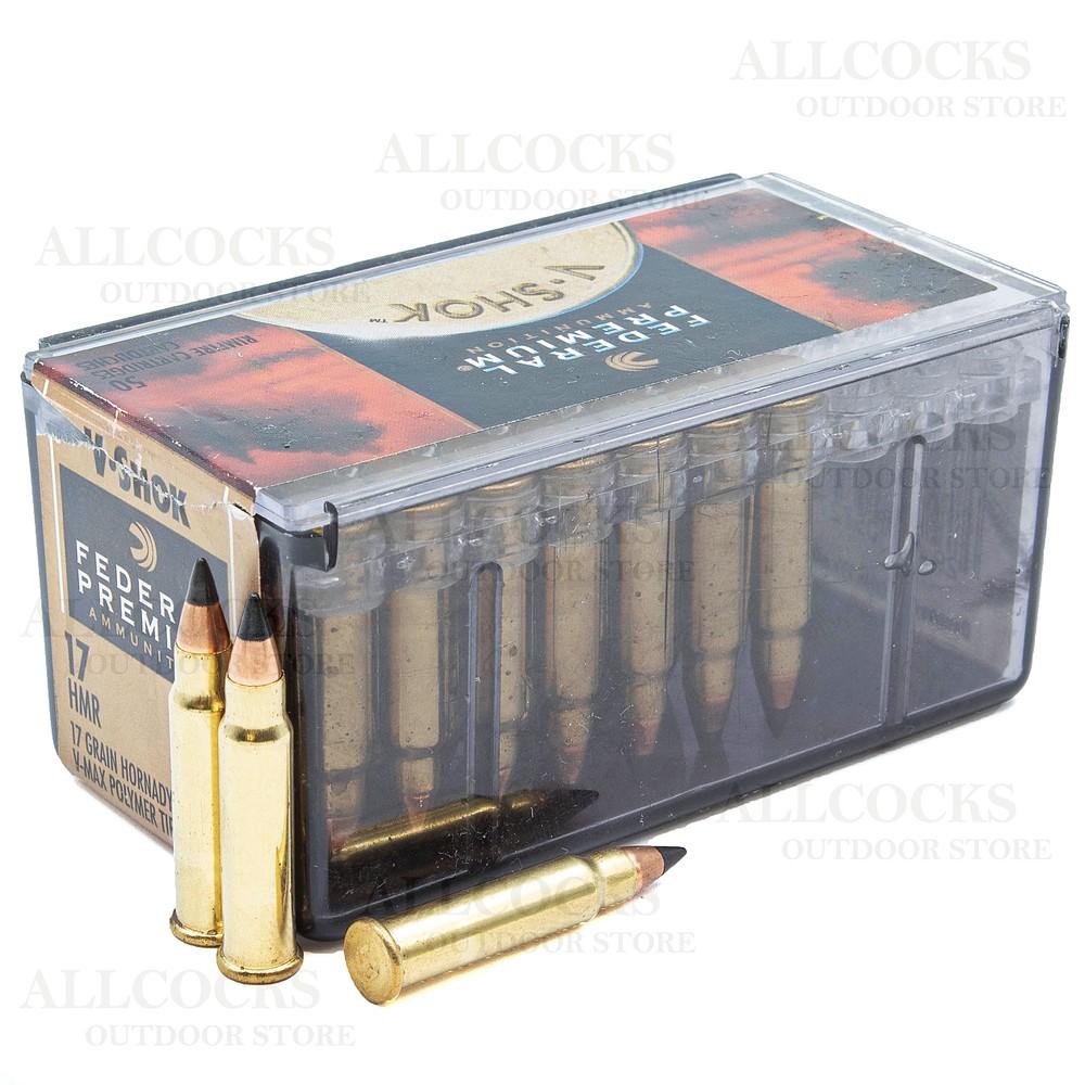 Federal .17HMR Ammunition - 17gr - V-Shok V-Max