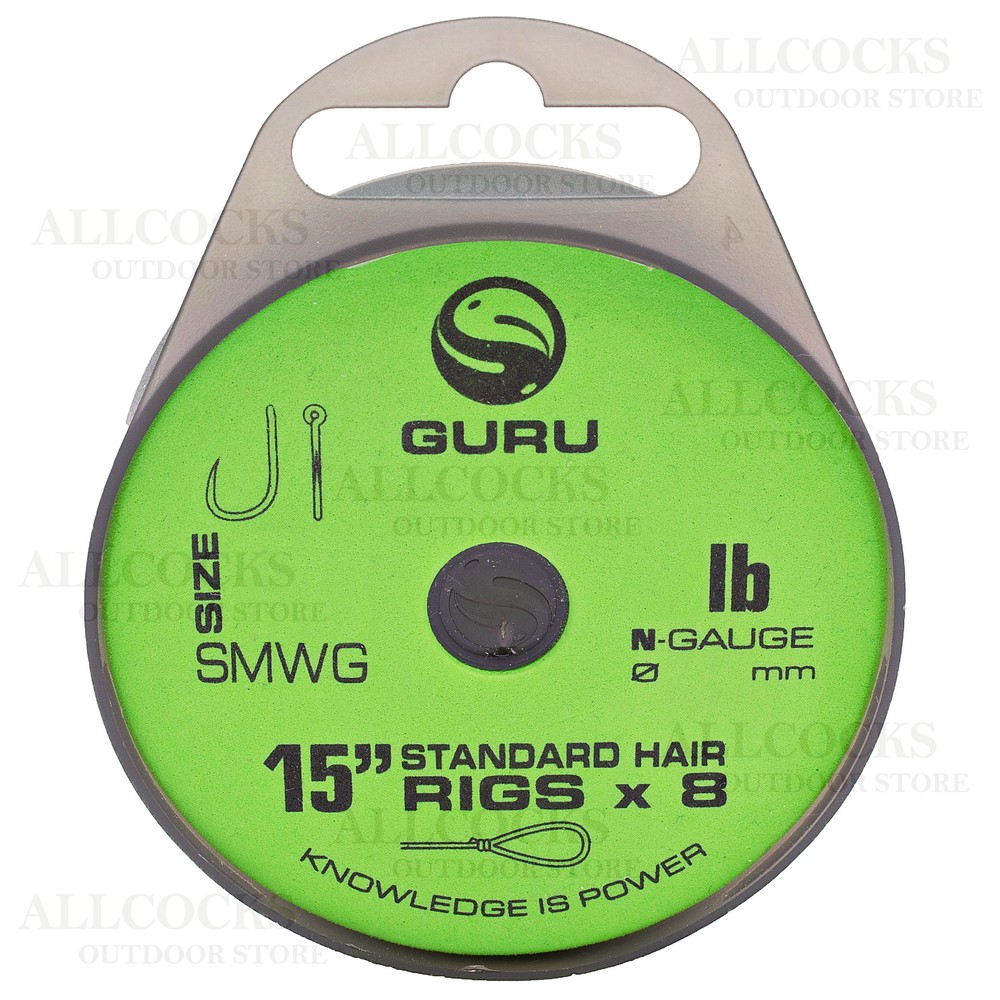 "Guru Standard Hair Rigs - 15"" - SMWG Hook"