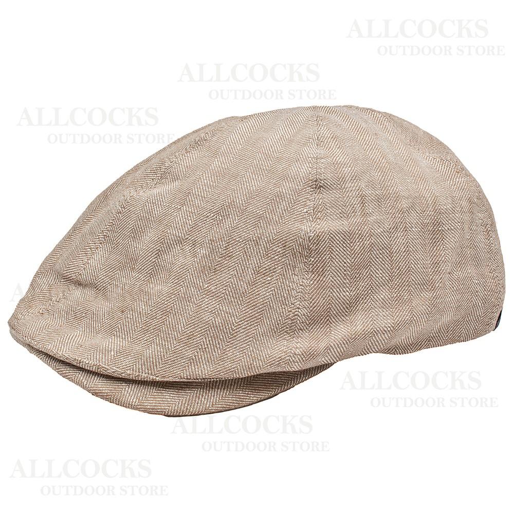 Olney Ben Linen 6 Piece Cap - Medium Natural
