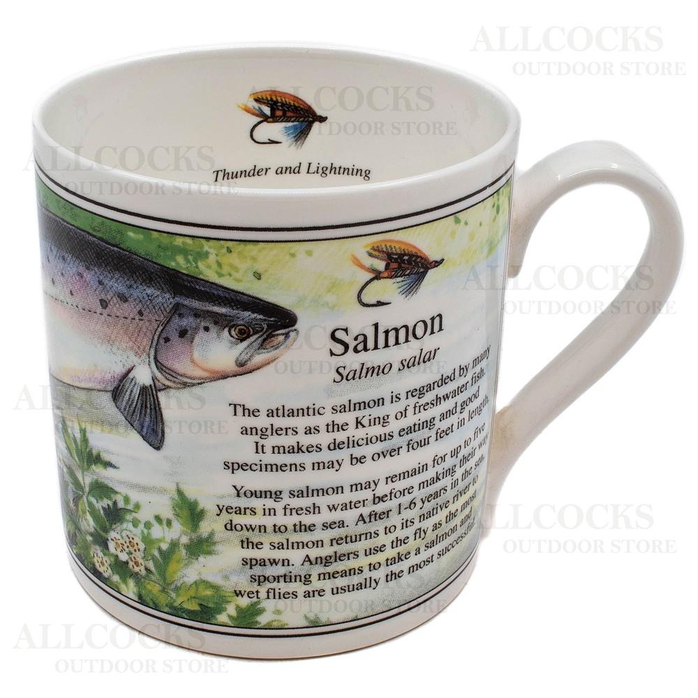 Ashley Fine China China Mug - Salmon - White