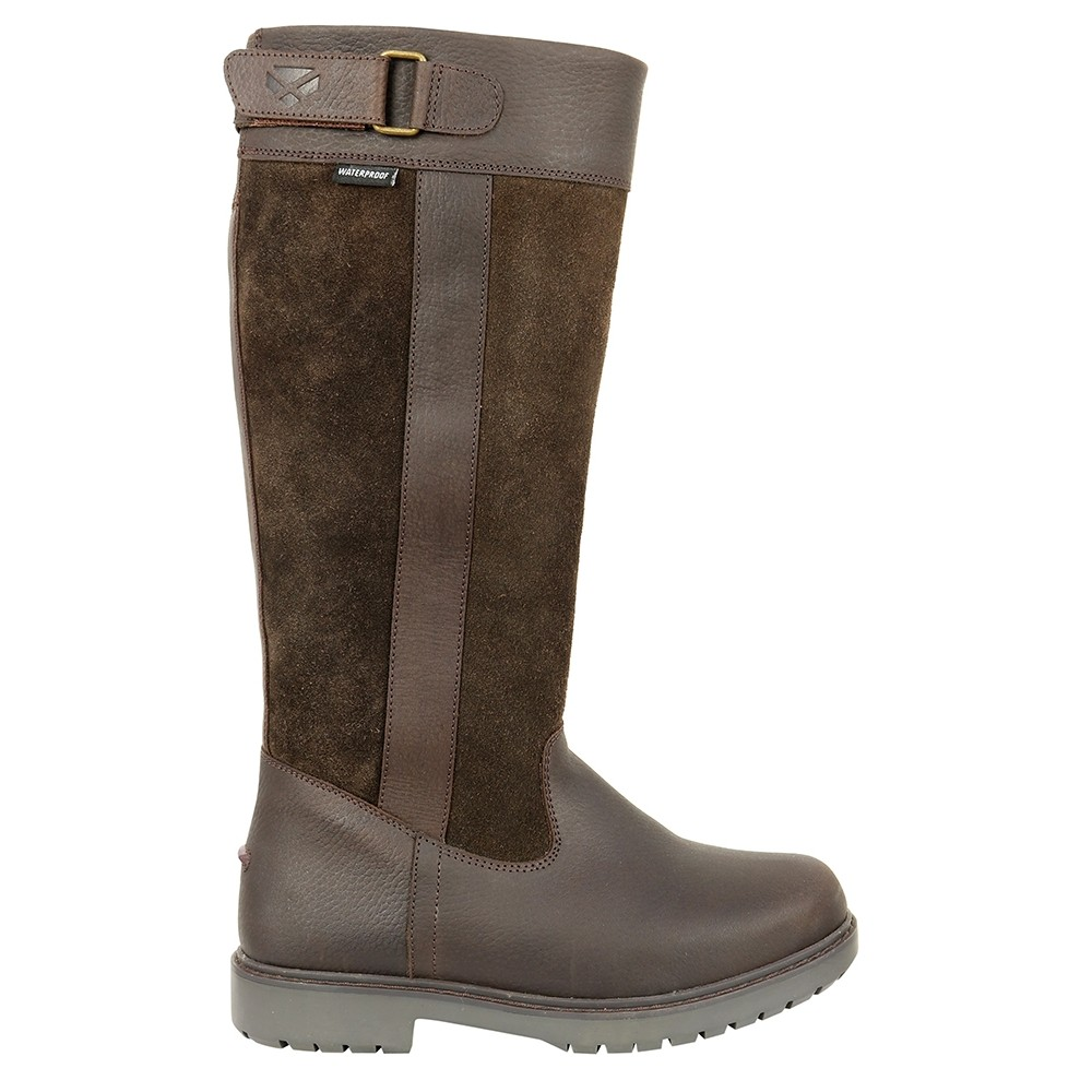 HOGGS OF FIFE Cleveland Ladies Country Boots Dark Brown